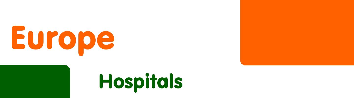 Best hospitals in Europe - Rating & Reviews
